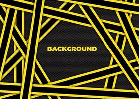 Abstract background modern design with overlapping yellow and black stripes vector