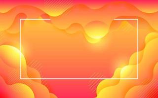 liquid abstract flow with frame background vector