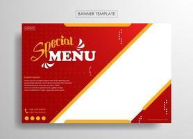 Banner food template modern design vector