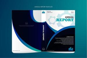 Annual report with double sides for business vector