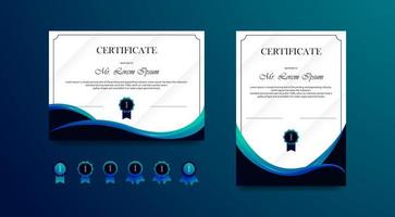 Set of certificates for business vector