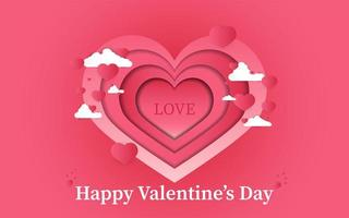 Valentine background with typography concept vector