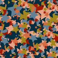 Seamless colorful pattern of shapes in the form of stars. vector