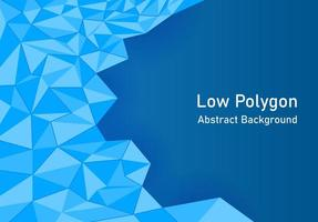 Abstract background low polygon in blue color. vector
