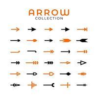 Set of 30 arrows collection vector