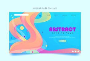 plantilla de página de destino con formas abstractas llenas de color vector