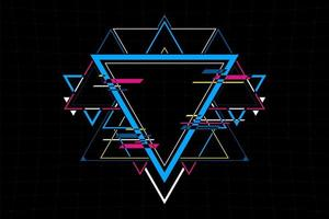 Abstract futuristic triangle shape connection. Future concept.vector and illustration vector