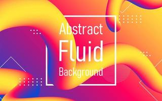 Fluid abstract flow with frame background. vector