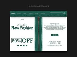 Landing page template for fashion business