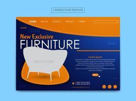 plantilla de página de destino para negocios de muebles vector