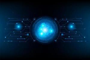 Circuito futurista abstracto circuito de línea de conexión. vector