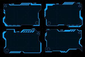 Futuristic HUD abstracts. Future theme concept background. vector