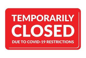 Temporarily closed due to covid 19 restriction