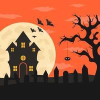 Flat design halloween background vector