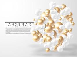 Ilustración vectorial de bolas o burbujas abstractas superpuestas. signo 3d realista. vector