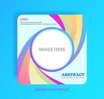 cartel cuadrado diseño colorido vector