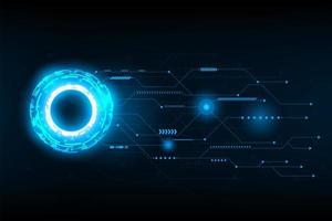 Ilustración y vector de circuito de línea de conexión futurista abstracto