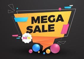 Mega sale template background vector