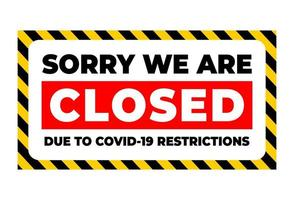temporarily closed due to covid restrictions