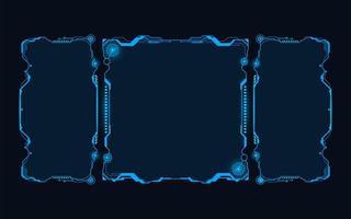 Futuristic HUD abstracts. Future blue monochome theme concept background. vector
