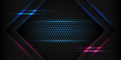 Abstract futuristic arrow movement with shining blue light background. vector