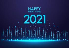 feliz año nuevo 2021 fondo color azul