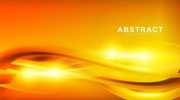 abstract vector background. golden waves with yellow light. design for any background