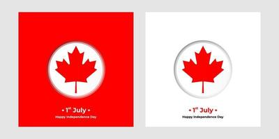 1 july independence Day of Canada square banners