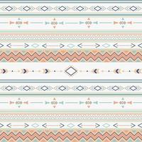Ethnic pattern with geometric shapes vector