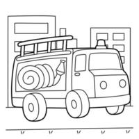 Fire Truck Coloring Page vector
