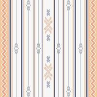 Seamless ethnic pattern with geometric shapes