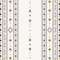 Seamless ethnic pattern with geometric shapes vector