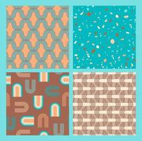 Abstract geometric collection of seamless patterns. Contemporary style. Modern design.