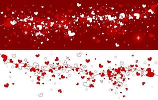 Heart background design vector