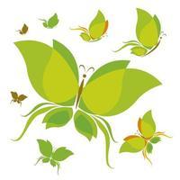 diseño de mariposa sobre fondo blanco