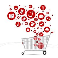Shopping cart and fashion icon design
