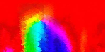 diseño de polígono degradado vectorial multicolor oscuro.