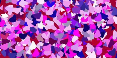 Light purple, pink vector background with random forms.