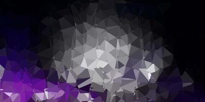 Dark purple vector gradient polygon texture.