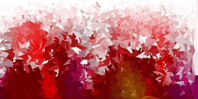 Fondo de mosaico de triángulo vector multicolor oscuro.