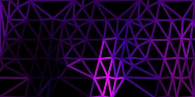 Telón de fondo de mosaico de triángulo vector rosa oscuro.