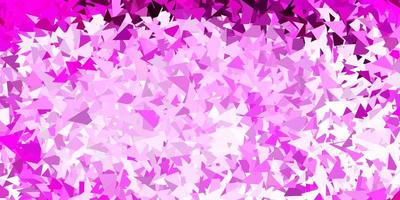Light pink vector triangle mosaic wallpaper.