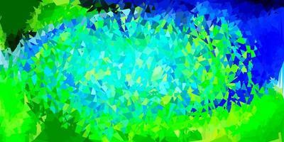 diseño de triángulo de poli vector azul claro, verde.