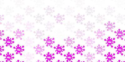 Light pink vector template with flu signs.