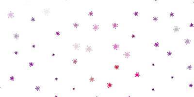 plantilla de vector de color púrpura claro, rosa con signos de gripe