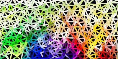 Plantilla de mosaico de triángulo de vector multicolor claro.