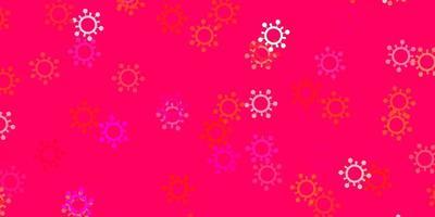 plantilla de vector rosa claro con signos de gripe