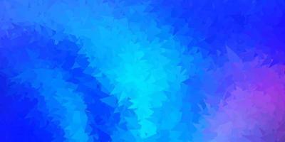 Dark pink, blue vector triangle mosaic backdrop.