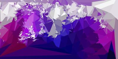 Dark purple, pink vector triangle mosaic background.