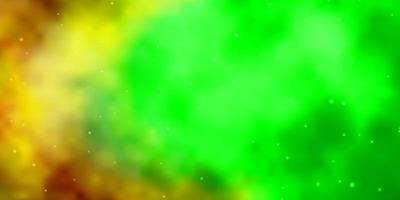 Dark Multicolor vector texture with beautiful stars.